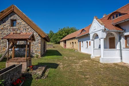 Traditional houses from Hungary, near lake Balaton, village Salfold, 29. August 2017 Stock Photo