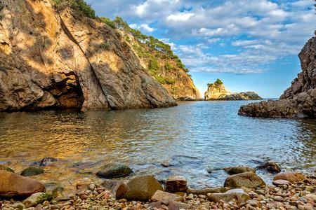 Detail of the Spanish coast at summer (Catalonia,Costa Brava),