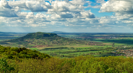 Landscape from a volcanoes in Hungary near the lake Balaton.