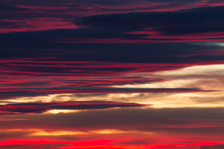 Nice clouds in a sunset light Stock Photo
