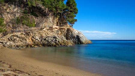 Nice detail of the Spanish coast in Costa Brava, Sant Antoni de Calonge Banco de Imagens
