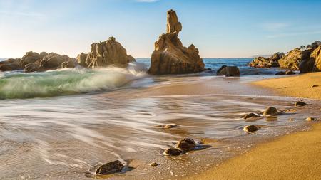 Nice landscape of the Spanish coastal in Costa Brava Foto de archivo