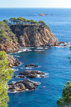 Nice detail from Costa Brava coastal in Spain, La Fosca Stock Photo