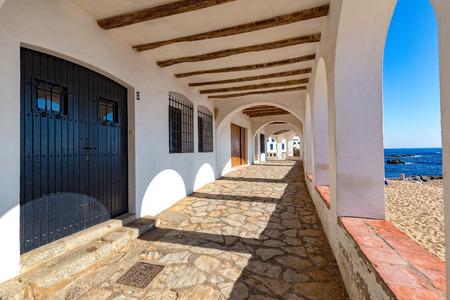 Nice arch in a small village Calella de Palafrugell (Costa Brava, Spain)