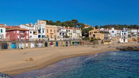 Village Calella de Palafrugell (Costa Brava, Spain) in wintertime