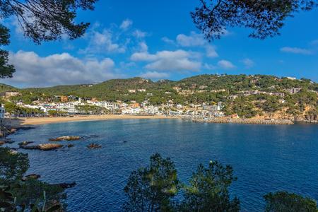 Small resort village Llafranc (Costa Brava, Spain) in wintertime Stock Photo