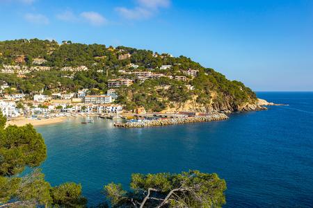 Small resort village Llafranc (Costa Brava, Spain) in wintertime Banco de Imagens