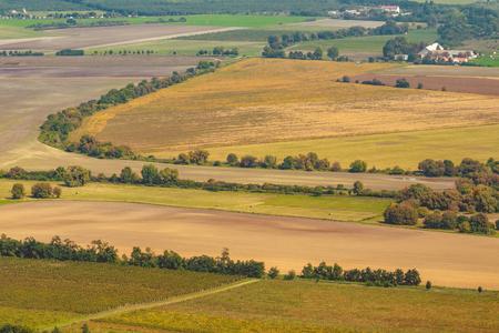 Hungarian agricultural landscape near a lake Balaton Standard-Bild