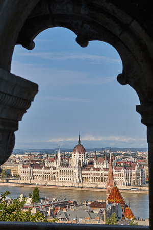 The very nice famous parliament in a capital Budapest of Hungary