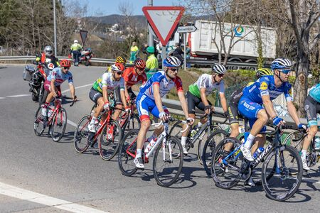 Competitors of the Volta Road Cycling in Catalonia on the stage 3 (from Sant Feliu de Guixols to Vallter 200) 27. 03. 2019 Spain