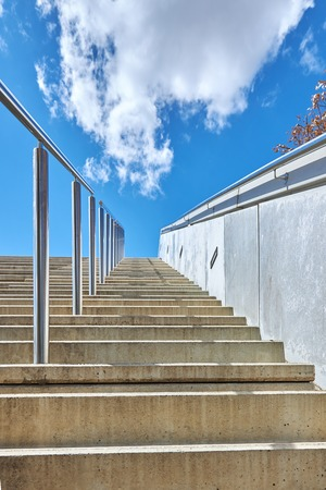 Stairs to the blue sky