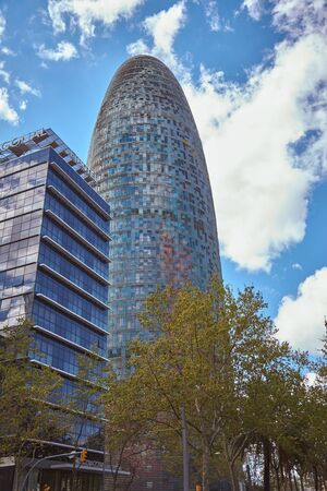 Tower Agbar, office building in Barcelona of Spain 報道画像