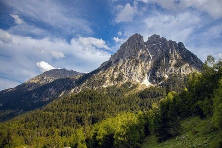 The beautiful Aigüestortes i Estany de Sant Maurici National Park of the Spanish Pyrenees mountain in Catalonia