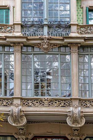 Interesting balconies from Barcelona in Spain