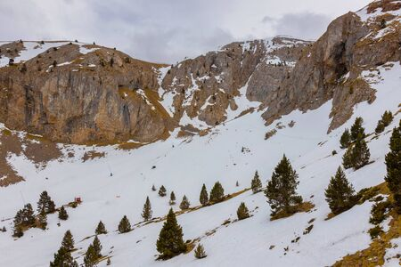 Spanish ski resort in Pyrenees mountain, Masella 写真素材