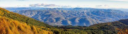 Panorama picture from Spanish mountain Montseny, near Santa fe del Montseny, Catalonia