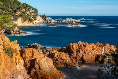 Landscape picture from a Spanish Costa Brava in a sunny day, near the town Palamos 写真素材