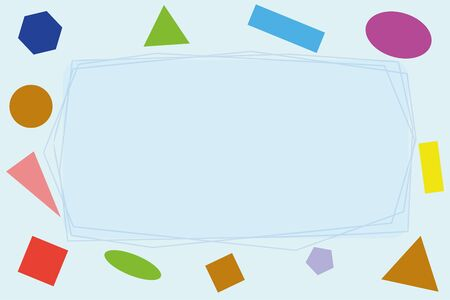 Abstract card with colored shapes and frame 일러스트