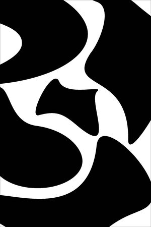 Black and white colors, abstract shape