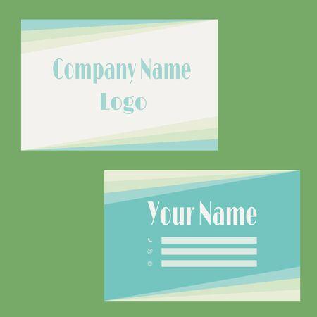 Green futuristic vector business card vector Stock Illustratie