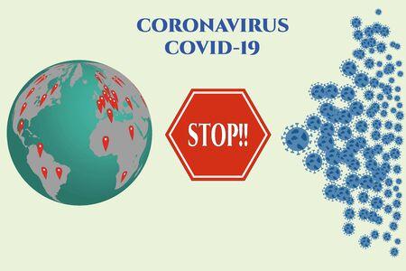 Global alliance against the coronavirus. Vector file ,esp 向量圖像