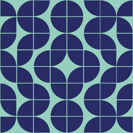 Interesting texture in 8x8 squares. Abstract geometric background with rounds. Colorful modern pattern in blue and green colors