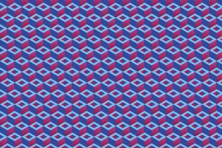 Repetitive rectangle shapes, 3D vector background Vektorové ilustrace