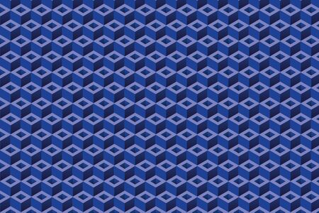 Repetitive rectangle blue shapes, 3D vector background