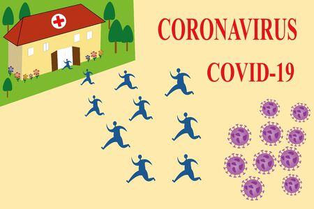Escape from the coronavirus attack