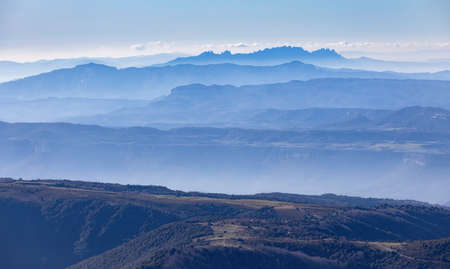 Beautiful mountain pikes from Spanish mountain Montseny Banque d'images