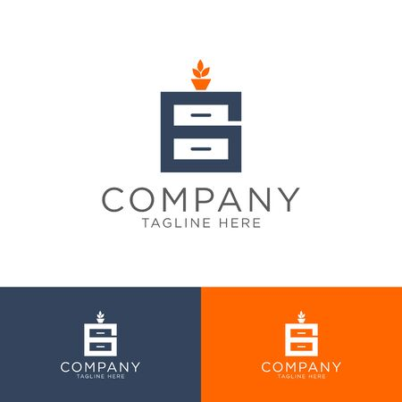 logo design for Home Furnishing industry elegant Modern simple style  イラスト・ベクター素材