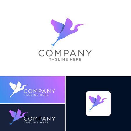 Logo design of bird modern simple style