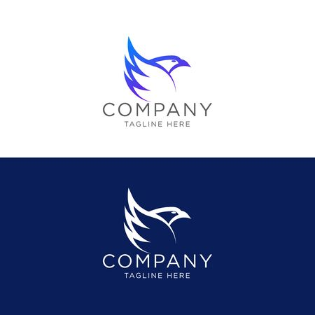 Logo design line art eagle logo template