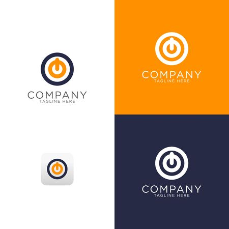 logo design of Power icon modern template