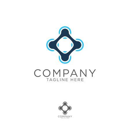 logo design drone modern bold style template Illusztráció