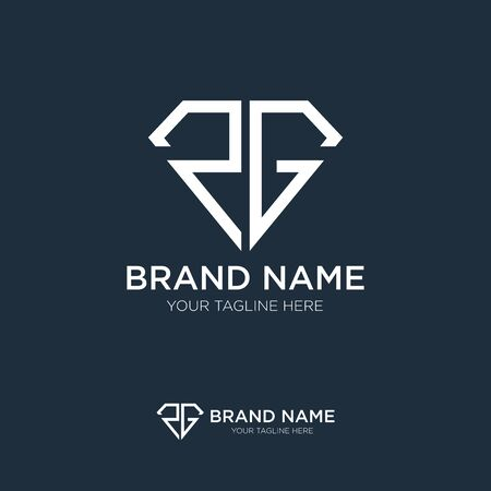 RG Initial Elegant Jewelry Logo design emblem vector Template