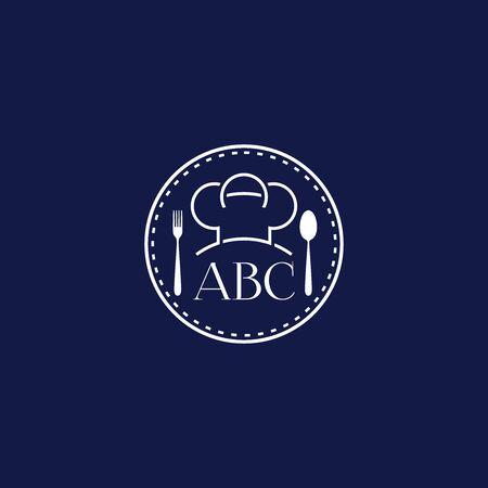 Reastaurant logo design, chef or toque logo design emblem vector illustration logo template