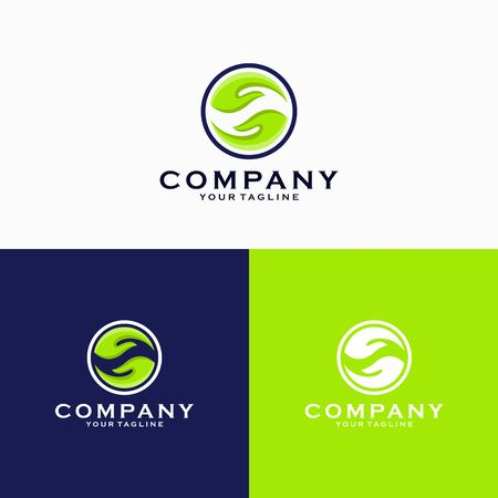 Hands logo template, take and give logo template, charity or care logo design emblem vector illustration logo template Logo