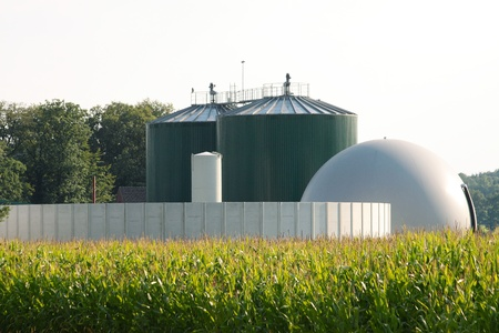 Biogas plant for maize chaff photo