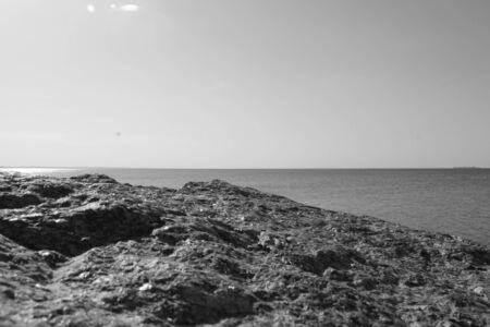 sea cliff: monochrome landscape of sea cliff