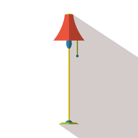 floor lamp: floor lamp flat icon Illustration