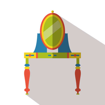 dressing table: dressing table flat icon