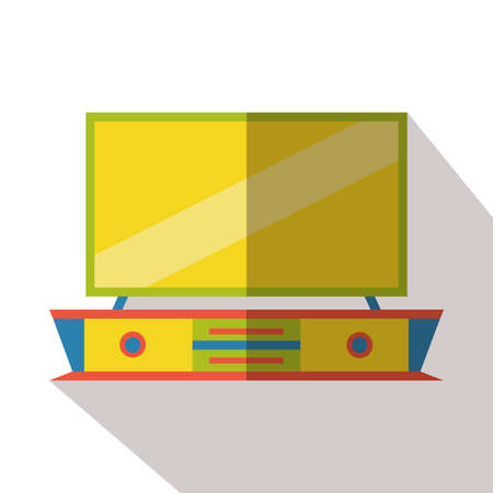 the unit: television unit flat icon Illustration