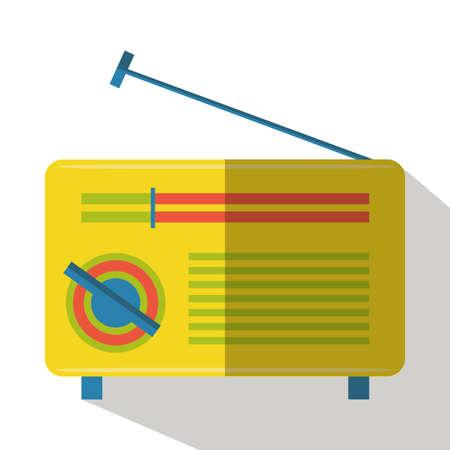 old radio: old radio flat icon