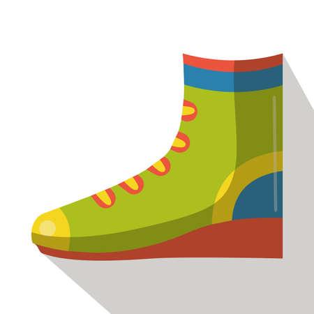 hiking: hiking boot flat icon