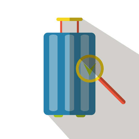 verification: baggage verification flat icon