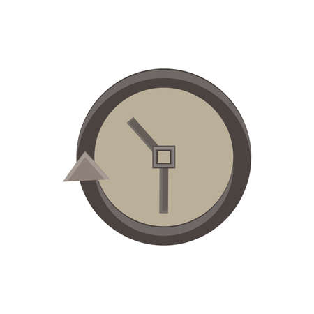 the passage: Passage of time on the wall clock monochrome flat icon in gray color theme illustration object Illustration