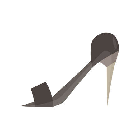 rhythmical: height heel monochrome flat icon in gray color theme illustration object Illustration