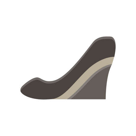 ankle strap: slink back monochrome flat icon in gray color theme illustration object