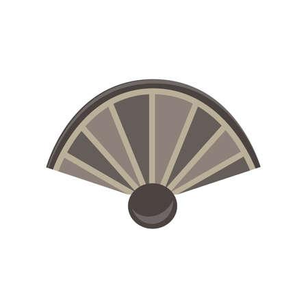 color fan: fan monochrome flat icon in gray color theme illustration object
